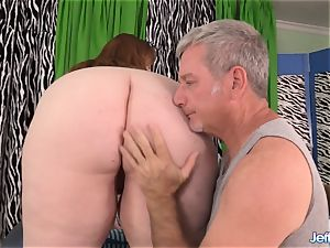 rough massage for phat stunner Ginger Rose
