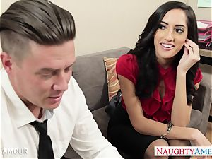 Office honey Chloe Amour plowing