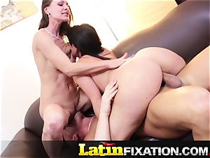 LatinFixation hot three-way with Sophie Dee