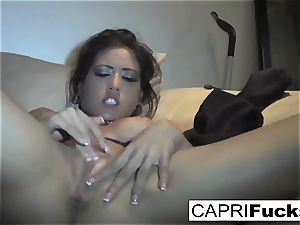 Capri Cavanni play with her humid poon