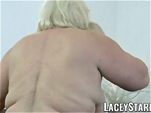 LACEYSTARR - grannie anally creampied with big black cock