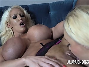 Alura and her huge-chested lezzie pal Dolly get ultra-kinky