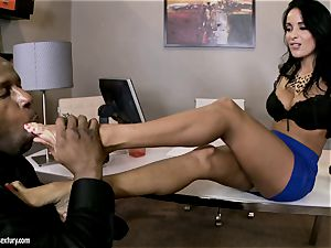foot play with nice honey Anissa Kate