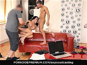 exposed casting - porn star Jasmine Jae MMF three way