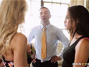 Brandi enjoy lets ho-bo Abbey Lee Brazil poke her dude