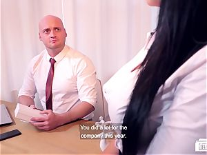 bums BUERO - mischievous Christmas group sex at the office
