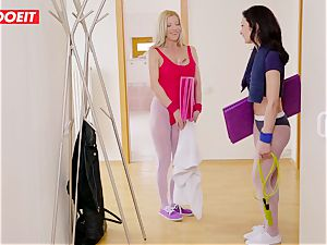 LETSDOEIT -Curios sonny humps mom and Her Yoga teacher