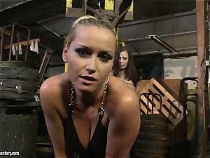 Kathia Nobili lash the tongue of ultra-cutie dame