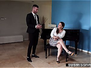 hotwife spouse forced to nail his assistant in front of his wifey