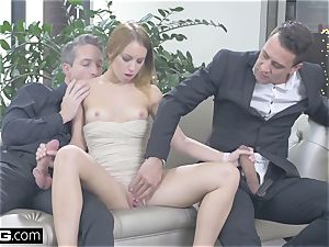 Foxy nubile biotch covets some double activity lovemaking