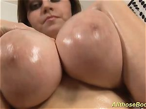 plus-size mummy with well-lubed monster juggs