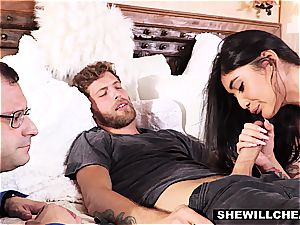 cuckold scene with amazingly gifted Brenna Sparks