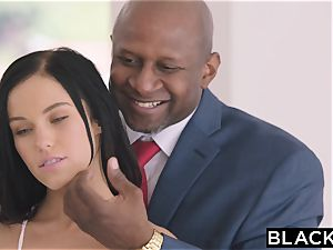 BLACKED scorching Megan Rain Gets DP'd By Her Sugar parent and His friend