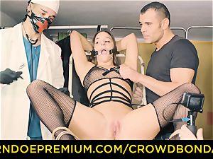 CROWD restrain bondage submissive Amirah Adara first-ever time bondage & discipline
