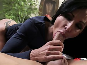 suntanned exotic cougar jewels Jade takes her stepson's thick manstick in her tatted vagina
