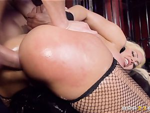 encaged greased up honey Luna star beaten nut deep in the bootie