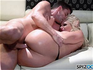 stellar culo ash-blonde babe jizm guzzler Phoenix Marie drilled deep by ginormous cock