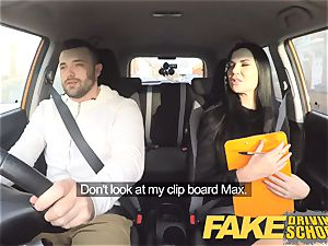 faux Driving college Jasmine Jae entirely naked lovemaking in car