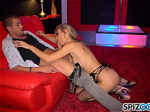 mind-blowing stripper Natalia Starr gives fellatio and stuffed in her honeypot pie by her beloved client