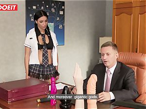 nasty school doll puts all Kind of Things in Her donk