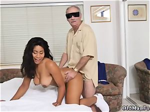 Call father and young nubile very first porno with senior guy Glenn ends the job!