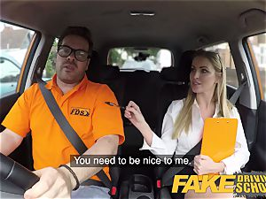 fake Driving school Georgie Lyall Off Duty bang-out