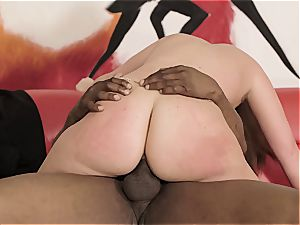 dual big black cock intrusion for super-naughty housewife