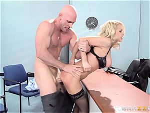 fantastic office babe Alix Lynx takes a second helping