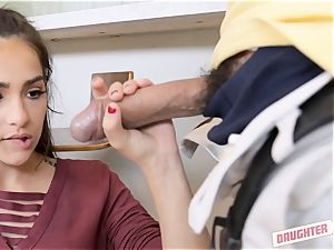 super-fucking-hot daughter-in-law exchanging action with some super-cute lovelies
