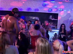 soiree inexperienced dicksucking spear at party