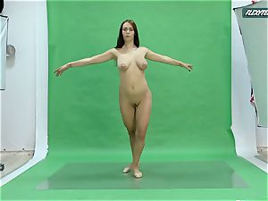 hefty milk cans Nicole on the green screen opening up