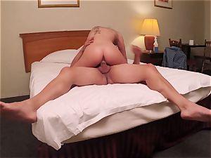 Brianna chocolate-colored caught on spy web cam as she screws