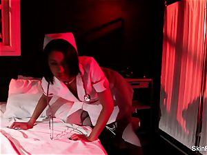 super super-steamy nurse flesh Diamond gives a gorgeous tease