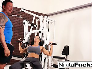 Nikita Von James joins a workout romp