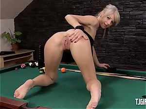 ultra-cute honey enjoys opening up Her rosy cunt