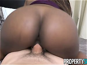 PropertySex black Agent Skyler Nicole Surprises client