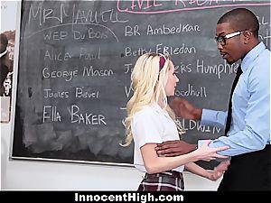 lil' blond student pummels bbc educator