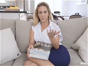 cougar Cherie Deville nearly caught by husband nailing stepson