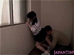scorching asian female gets her sweet snatch satiated with playthings