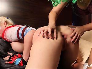 Whorley Quinn Leya gets boned stiff by She Joker Nadia