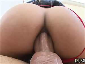 TRUE anal Chloe Amour In pigtails And ass pulverized