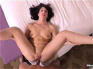 harmless black-haired milf hotwife internal cumshot wish