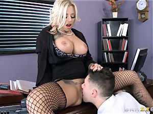 sizzling Headmistress Britney Shannon gets her hands on a naughty student