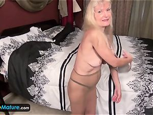 EuropeMature old grandmother Cindy gone too insatiable