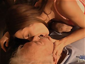 grandfather is penetrated by lovely woman in News vs Romantic