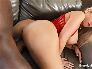 Brooklyn takes a bbc on the sofa