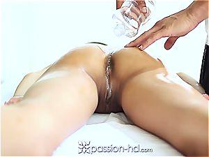 sumptuous Latina Chloe Amour pops hard after massage
