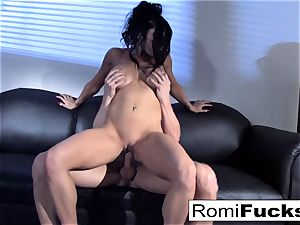 magnificent taunt followed by firm fuckfest with Romi Rain