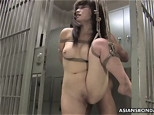 japanese hotty gets smashed with strength behind the slats