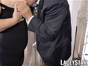 LACEYSTARR - kinkiest grannie analled before cum shot